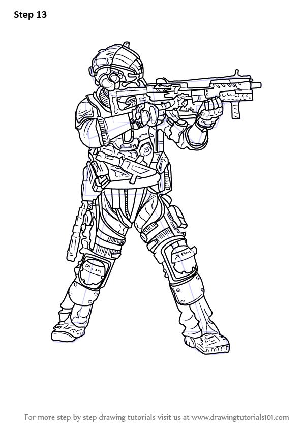 Learn How to Draw Jack Cooper from Titanfall 2 (Titanfall