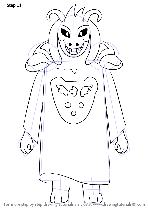 Learn How to Draw Asriel Dreemurr from Undertale