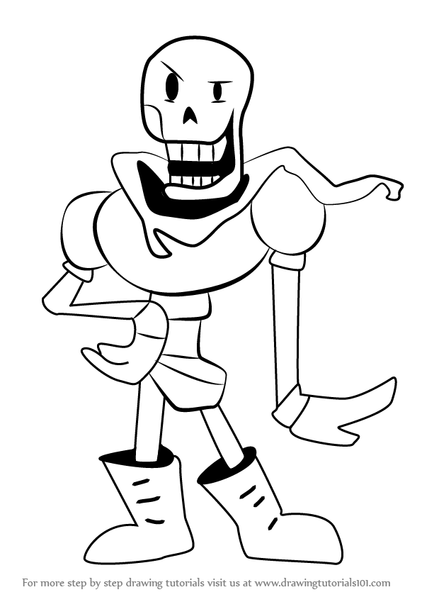 Learn How to Draw Papyrus from Undertale Undertale Step