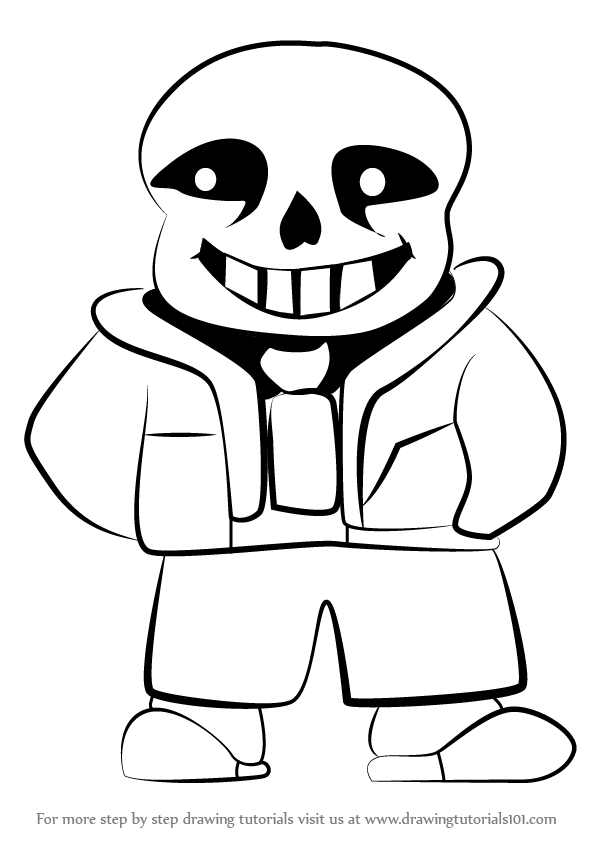 Learn How to Draw Sans from Undertale (Undertale) Step by