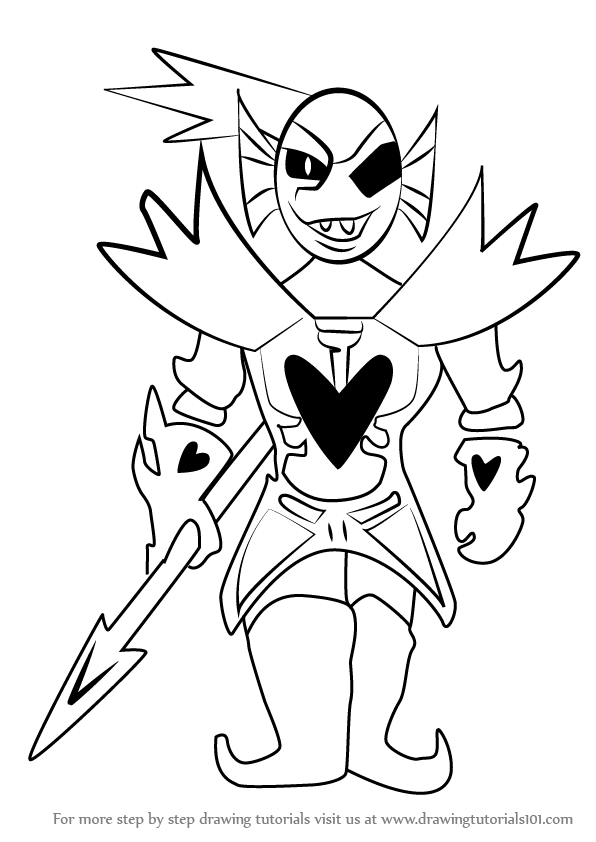 Learn How to Draw Undying from Undertale Undertale Step