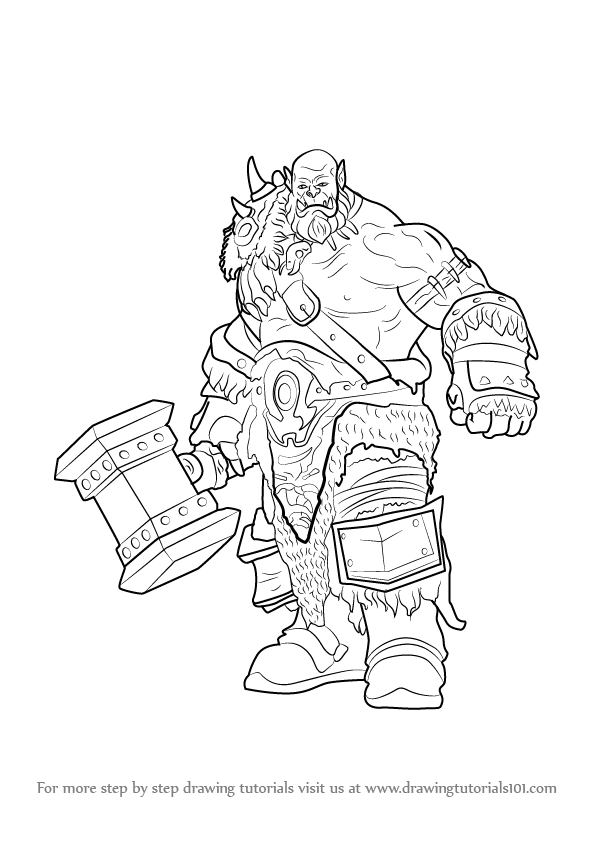 Learn How to Draw Durotan from Warcraft (Warcraft) Step by
