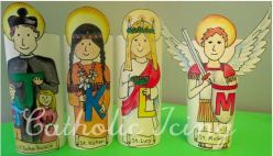 ABC Saints- Drawn in Ink (watercolors added by Catholic Icing)