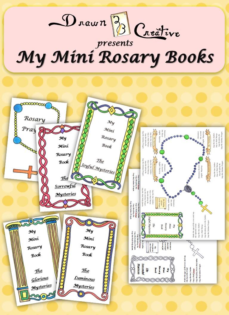 It is a graphic of Gratifying How to Pray the Rosary Printable Booklet