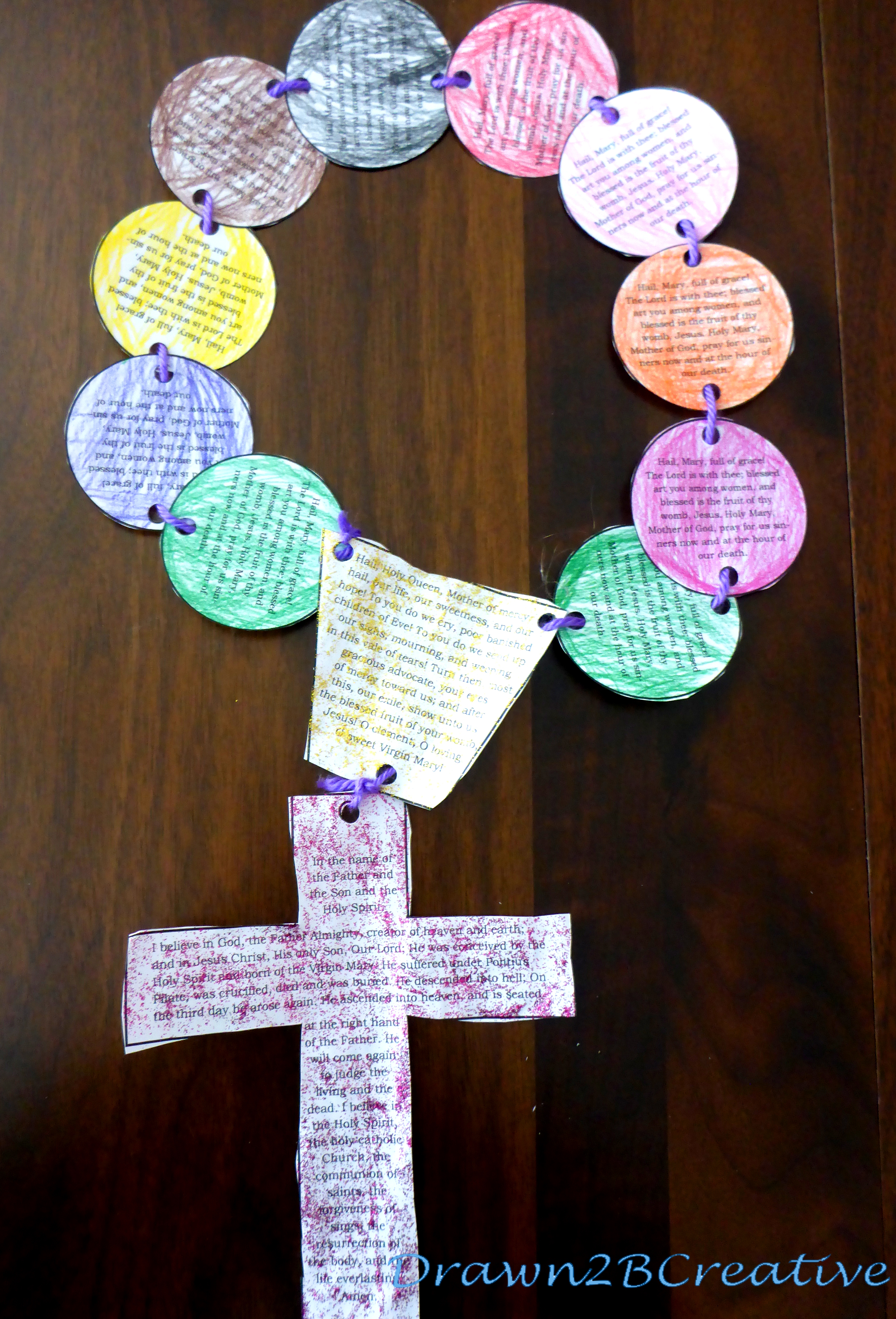 40 Days of Free Lenten Printables: My Giant Paper Rosary