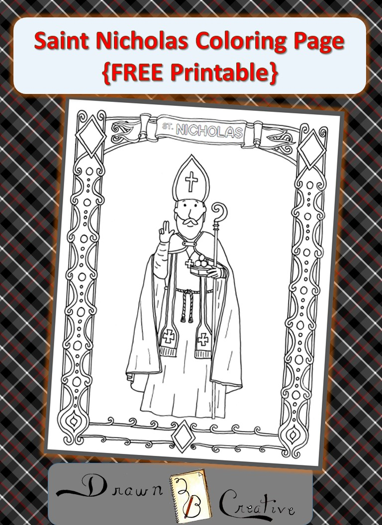 Free Saint Nicholas Coloring