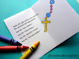 Colored divine mercy chaplet watermarked