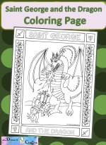 Saint George Coloring Coloring Page badge