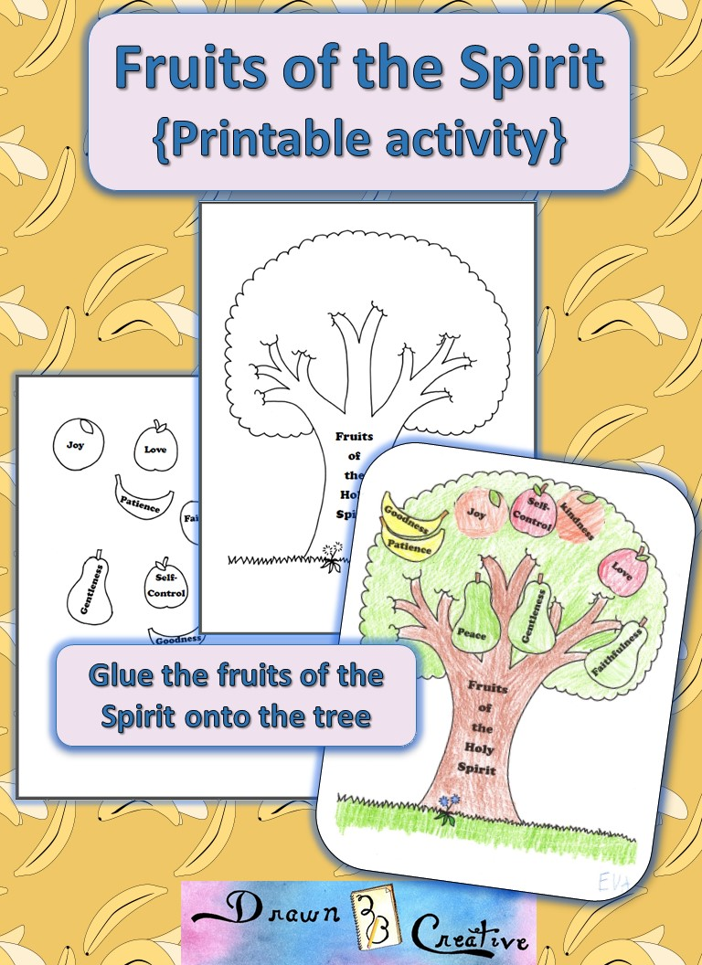 image relating to Fruits of the Spirit Printable named Culmination of the Spirit Printable Video game - Drawn2BCreative