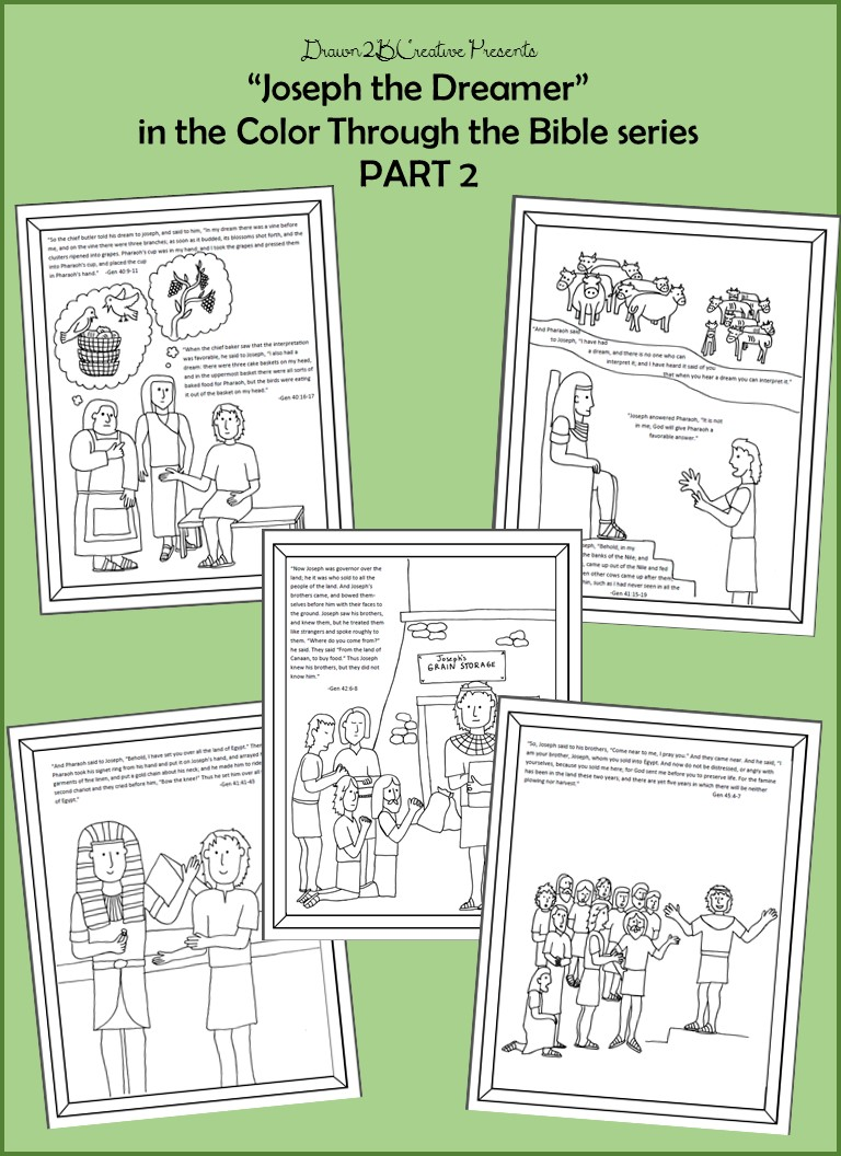 Joseph the Dreamer Coloring Pages Part 2 - Drawn2BCreative