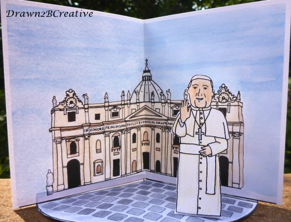 pope francis paper doll and vatican scene