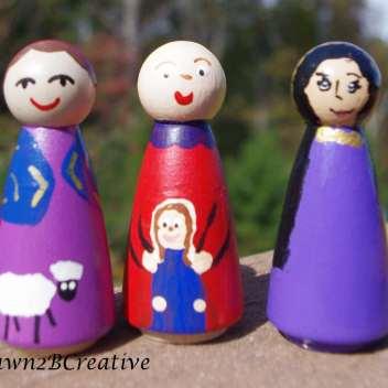 more girl peg dolls