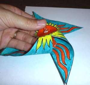 Assembling the Spinning Sun Pinwheel