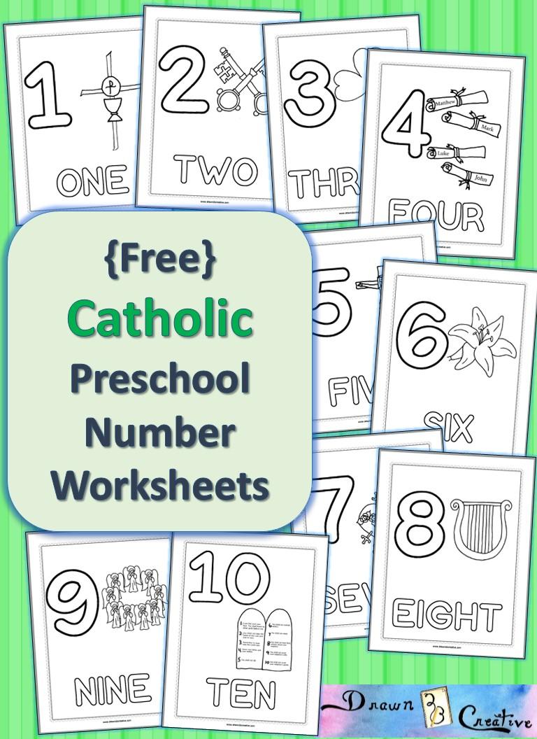 Cathoilic Numbers Worksheet For Preschool Activities
