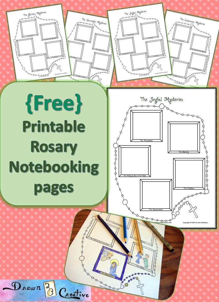 Free Rosary Notebooking Pages - Drawn2BCreative