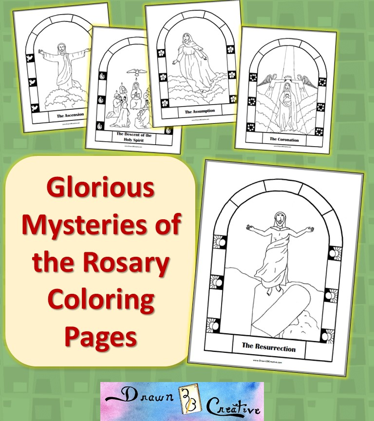 Free Printable Mysteries Of The Rosary Coloring Pages Drawn2bcreative