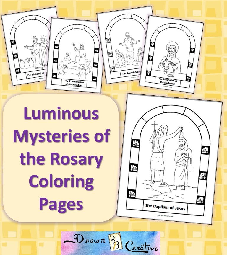 photo about Luminous Mysteries of the Rosary Printable identify The Very first Luminous Secret - The Baptism of Jesus - Coloring