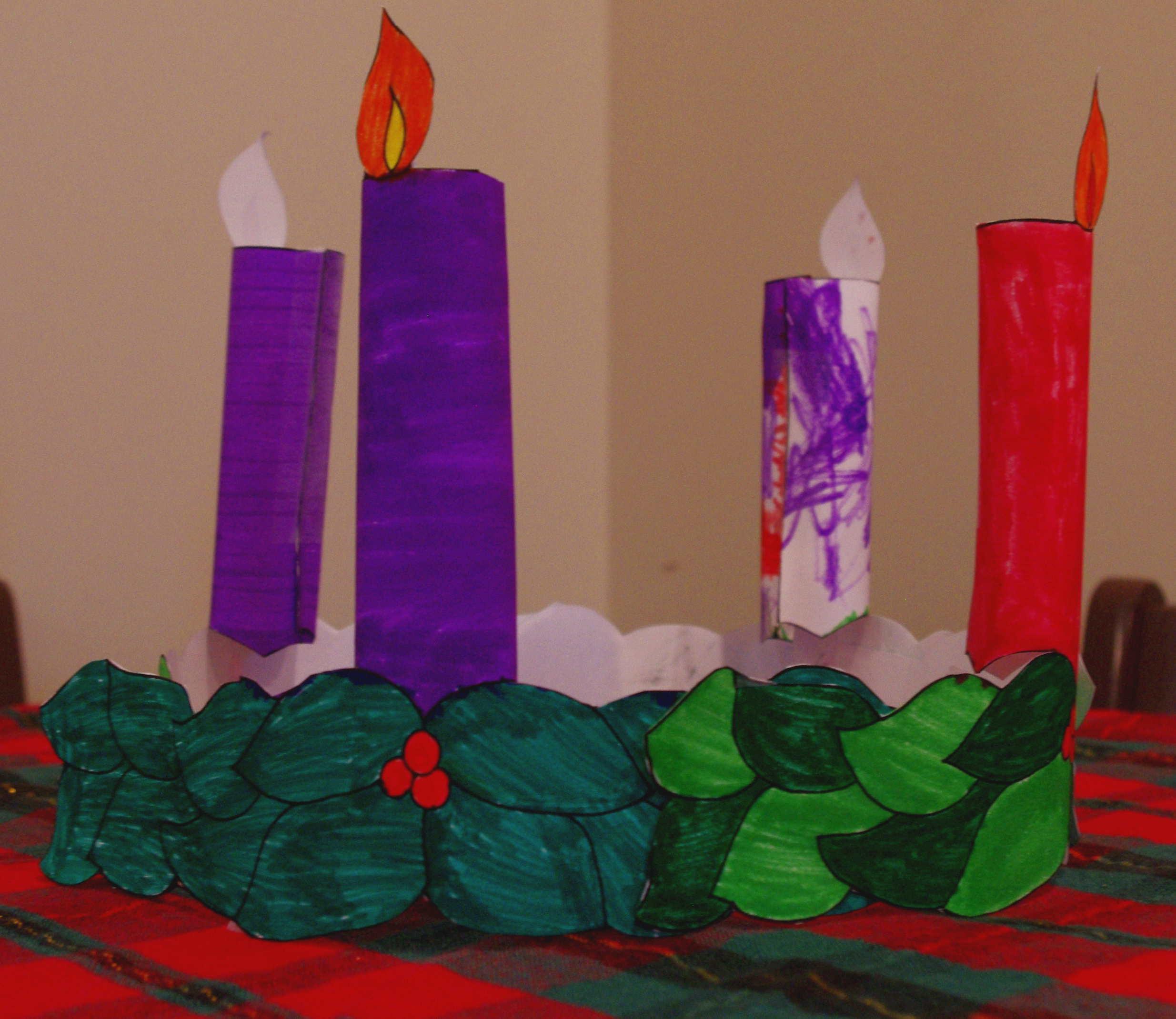 3 D Printable Advent Wreath