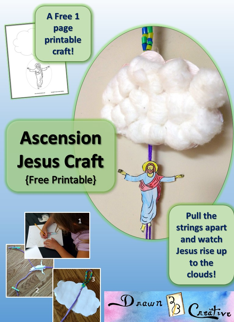 Ascension Jesus Craft Free Printable Activity