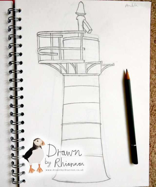 Amble lighthouse drawing