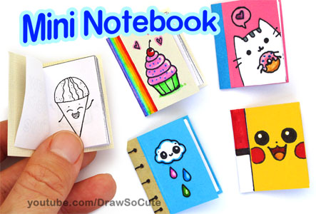 DIY Mini Notebook and Coloring
