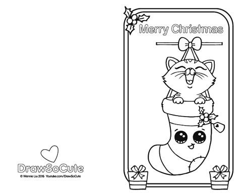 Christmas Kitten, Christmas Card