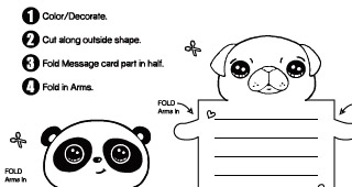 Cute Animal Message Cards