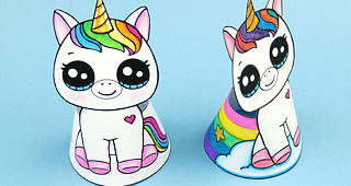 New Paper Unicorn Doll Craft Draw So Cute