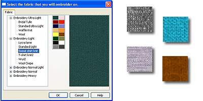 Select between different fabrics