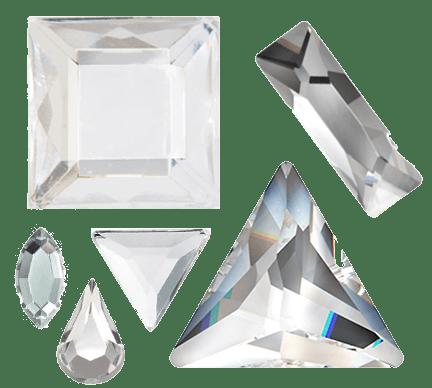 Crystal-rhinestone shapes