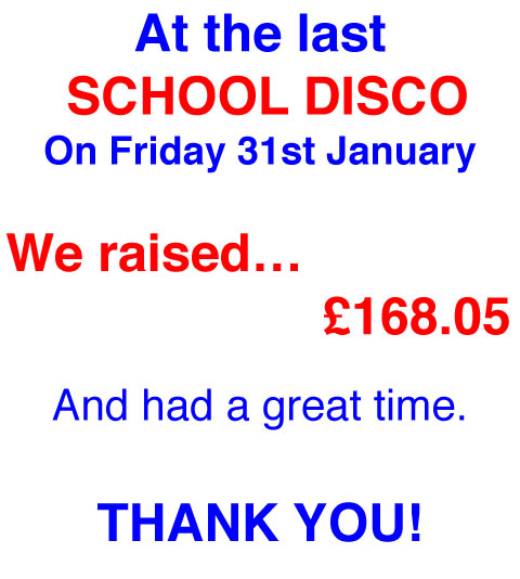 School Disco Funds Raised