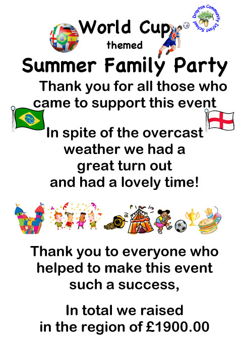 Summer Family Party Thank You Poster