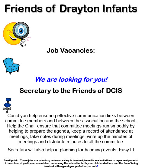 DCIS Friends Secretary Job Vacancies