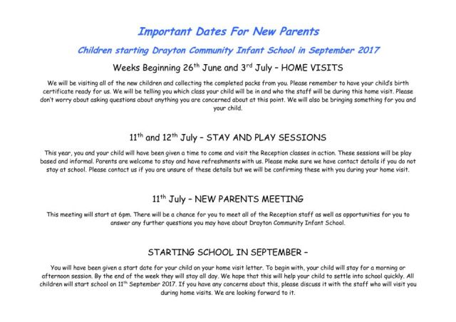 thumbnail of Important Dates For New Parents