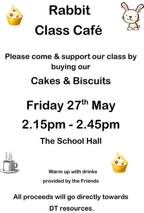 Cake Sale Class Poster Advert - Rabbit 2016