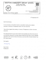 Academy Conversion Consultation Letter