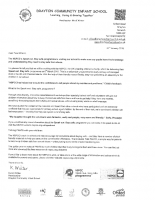 NSPCC 'Speak Out. Stay Safe' Letter