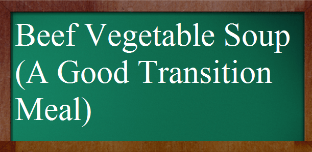Beef Vegetable Soup (A Good Transition Meal)