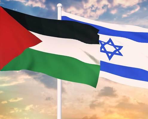 Flag of Israel and Palestine