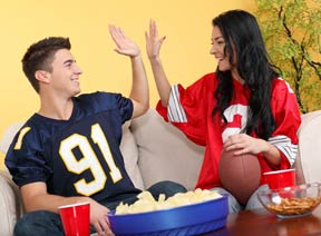 Gridiron watching party