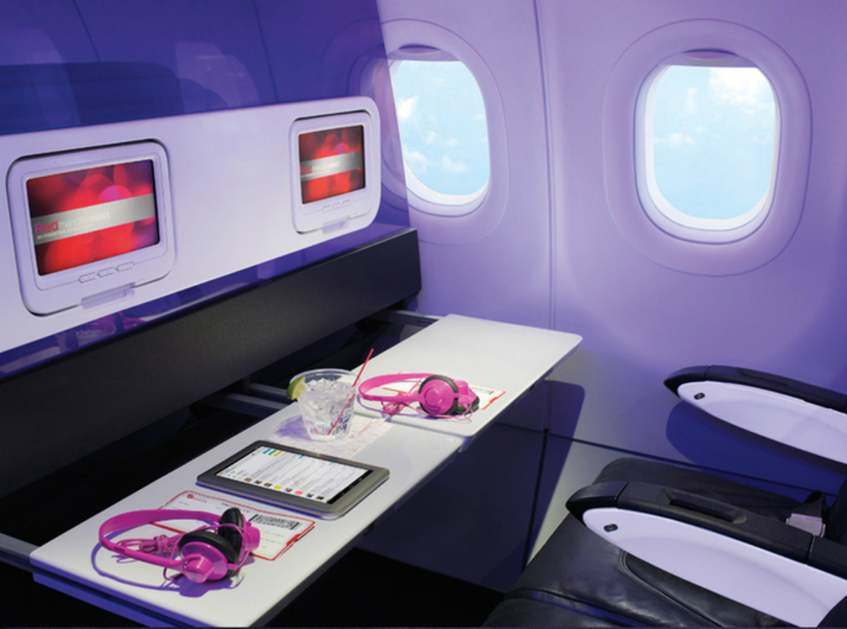 Row 3 Pull Out Tables (Virgin America)