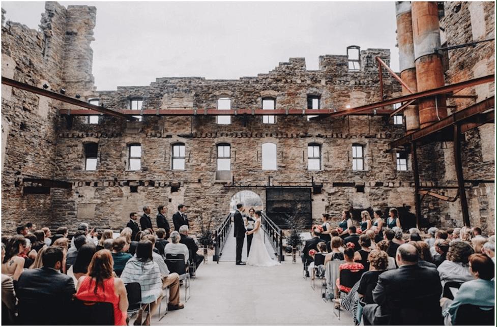 Minnesota Premarital Education Course, Hennepin County, Minnesota, Mill City Museum Wedding