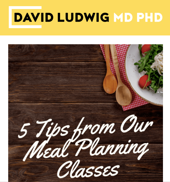 5 Tips from our Meal Planning Classes Newsletter