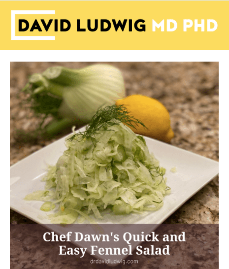 Chef Dawn's Quick and Easy Fennel Salad Newsletter