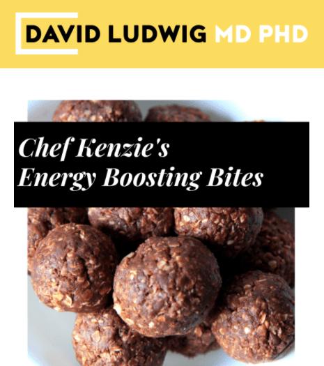 Chef Kenzie's energy boosting bites Newsletter