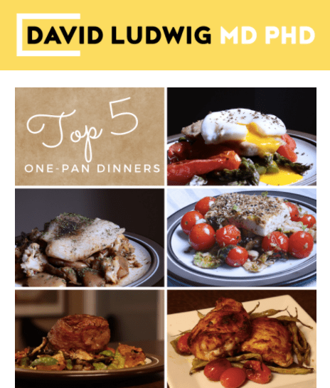Top 5 one pan dinners Newsletter
