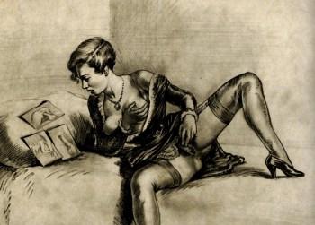 masturbating woman