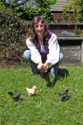 Kathy w chicks