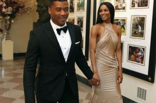 Russell Wilson and his girlfriend Ciara