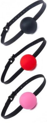 Silicone Ball Gag w: Garment Leather Strap